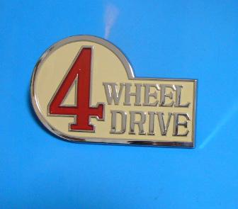 税込 ランドクルーザーBJ FJ4# 4WHEEL DRIVE エンブレム 69~79 格安