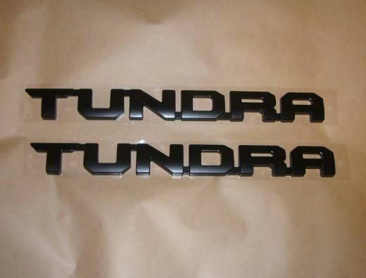 タンドラ USK5# TRD PRO用ドアエンブレム ツヤ消しブラック【TUNDRA】