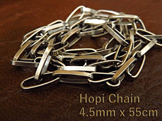 ホピ族 ネックレス チェーン 4.5mm 55cm シルバー925 小豆 あずき 燻し加工