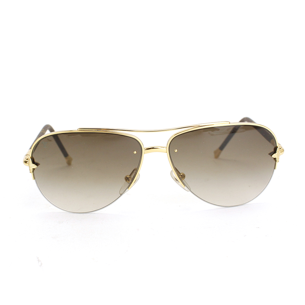 10b46e200a9 Louis Vuitton Z0571U viola pilot sunglasses sunglasses accessory GP plastic  brown gold frame tea gold LOUIS VUITTON  used