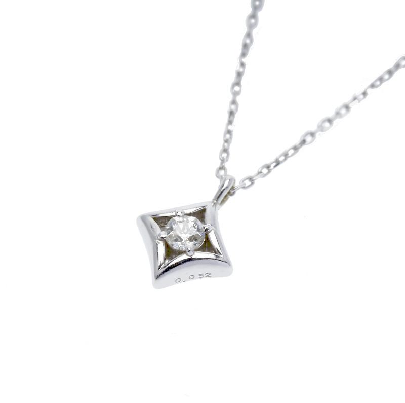 K10WG ホワイトゴールド ダイヤ 0.052ct 楽ギフ あす楽 ネックレス 新作販売 驚きの値段 中古