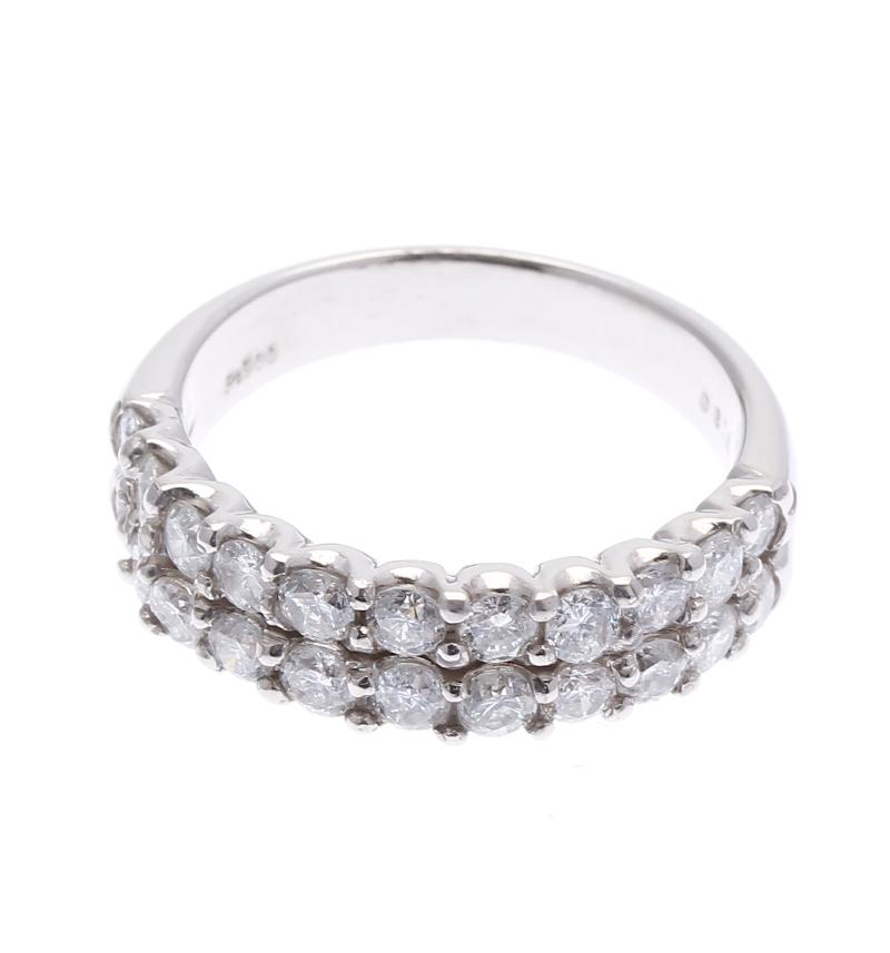 Pt900 プラチナ ダイヤ 1.30ct  リング 幅:0.5cm #13 【中古】 楽ギフ あす楽