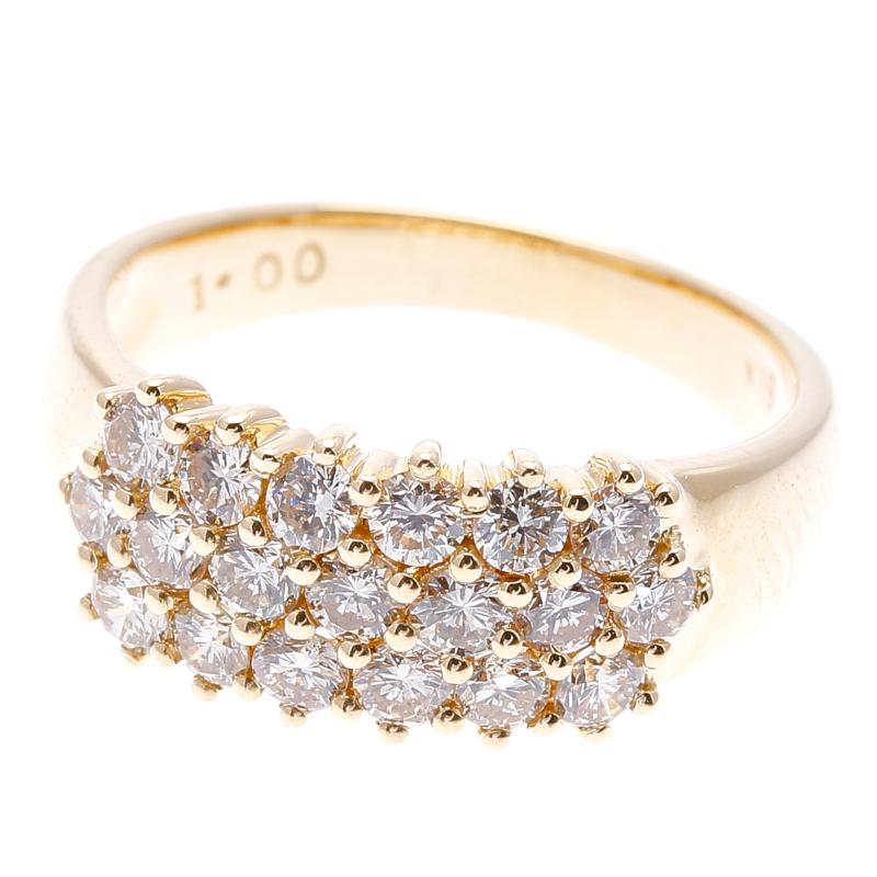 K18 ゴールド ダイヤ 1.0ct  リング 最大幅:約0.7cm #13 【中古】 楽ギフ あす楽