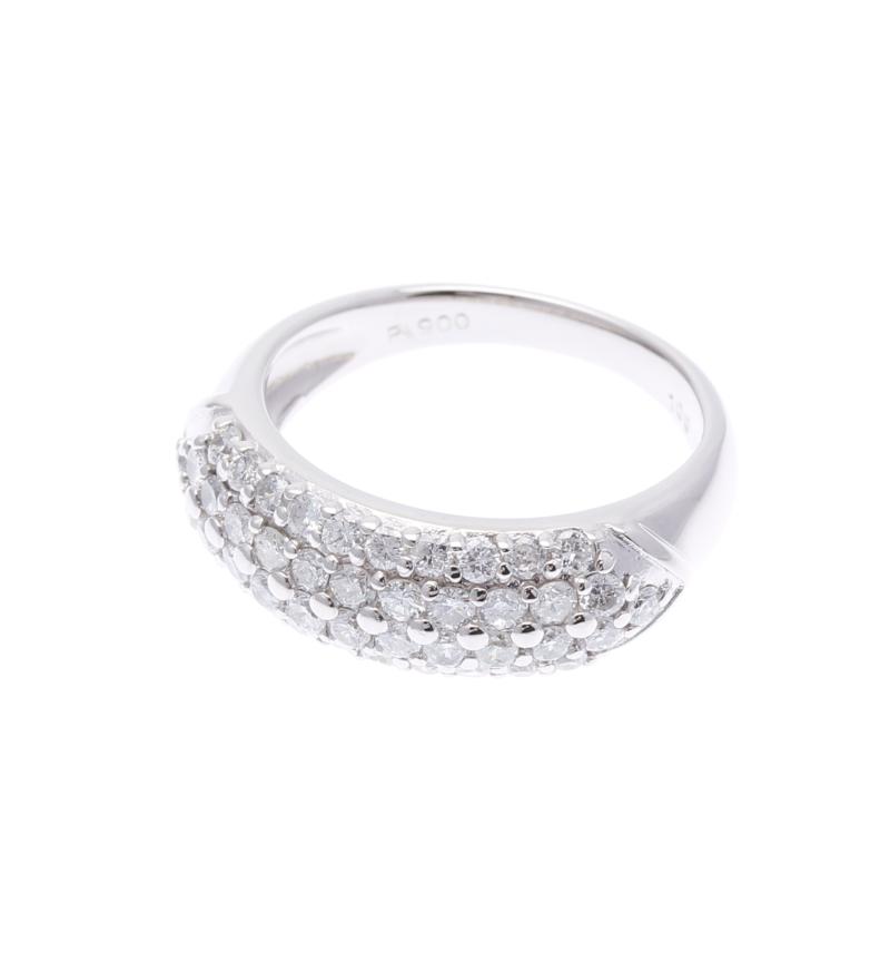 Pt900 プラチナ ダイヤ 1.00ct  リング 最大幅:0.7cm #12 【中古】 楽ギフ あす楽