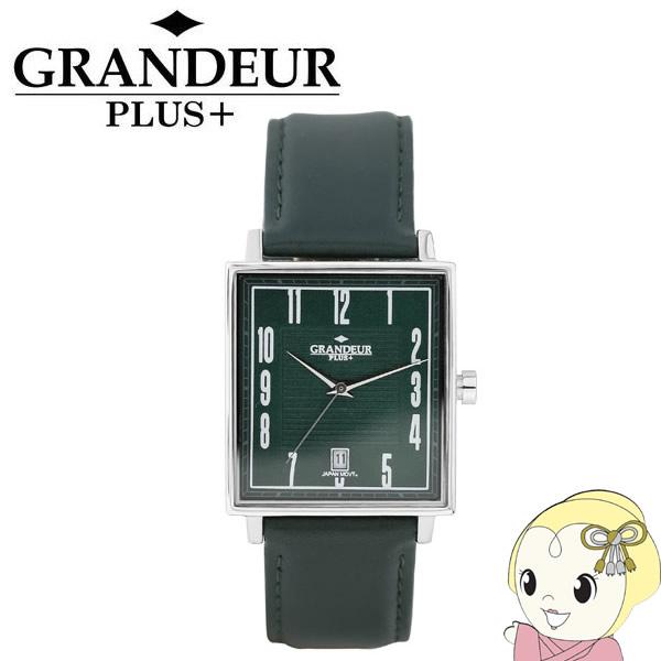 【キャッシュレス5%還元】GRP009W3 GRANDEUR PLUS+ グランドールプラス 腕時計 牛本革バンド【KK9N0D18P】