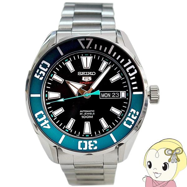 【あす楽】【在庫僅少】【キャッシュレス5%還元店】【逆輸入品】 SEIKO 5 SPORTS 腕時計 自動巻き 100M防水 SRPC53K1【KK9N0D18P】