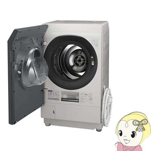 【設置込・左開き】ES-W111-SL シャープ ドラム式洗濯乾燥機11kg 乾燥6kg COCORO WASH シルバー系【smtb-k】【ky】【KK9N0D18P】