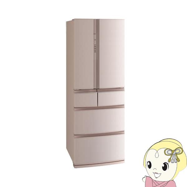 【設置込】MR-RX46E-F 三菱電機 6ドア冷蔵庫462L 置けるスマート大容量 RXシリーズ フローラル【smtb-k】【ky】【KK9N0D18P】