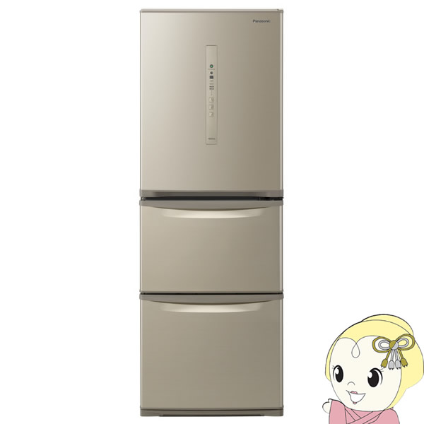 【設置込/左開き】NR-C340CL-N パナソニック 3ドア冷蔵庫335L シルキーゴールド【smtb-k】【ky】【KK9N0D18P】