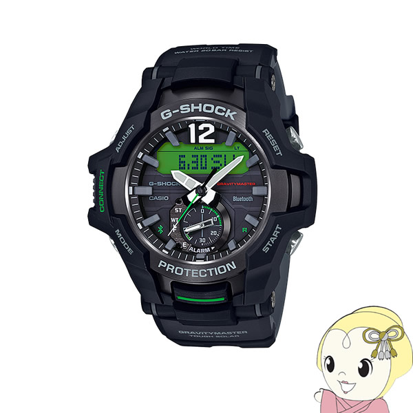 【キャッシュレス5%還元】【あす楽】在庫あり 【逆輸入品】 カシオ 腕時計 G-SHOCK GRAVITYMASTER Bluetooth GR-B100-1A3【KK9N0D18P】