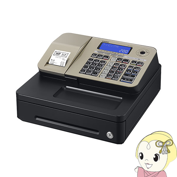 【キャッシュレス5%還元】[予約]SR-S200-GD カシオ Bluetoothレジスター (10部門・600PLU)「ドロア一体型」「キャッシュレス決済対応」「消費税率簡単変更」【KK9N0D18P】