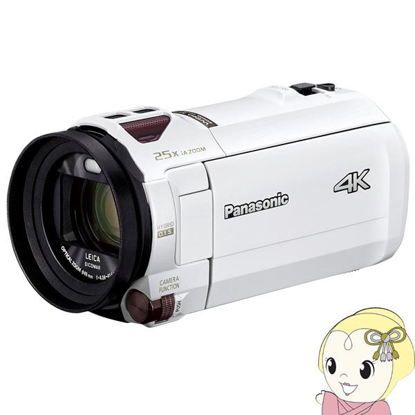 爆買い! HC-VX992M-W パナソニック 4K ビデオカメラ 64GB 光学20倍ズーム ピュアホワイト【KK9N0D18P】, ピュアライズ 9d32d032