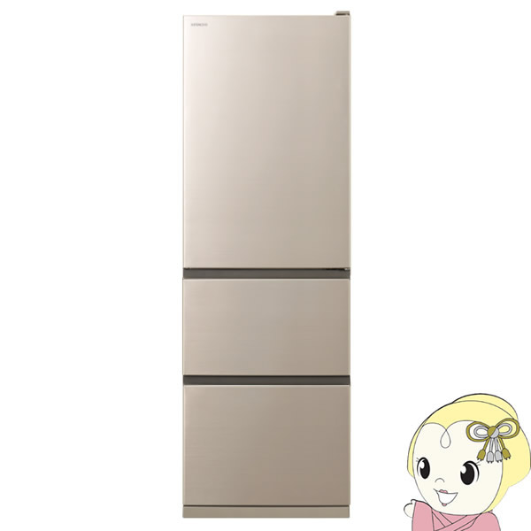 [予約 約1週間以降]【キャッシュレス5%還元】【設置込/左開き】 R-V38KVL-N 日立 3ドア375L 冷凍冷蔵庫 Vタイプ/まんなか野菜【KK9N0D18P】