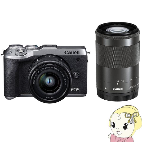 キヤノン ミラーレス 一眼カメラ EOS M6 Mark II ダブルズームキット [シルバー]【KK9N0D18P】