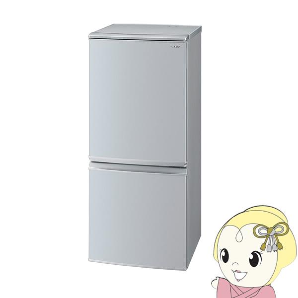 [予約 約2~3週間以降]【キャッシュレス5%還元】SJ-D14F-S シャープ 2ドア冷蔵庫 137L つけかえどっちもドア シルバー系【KK9N0D18P】