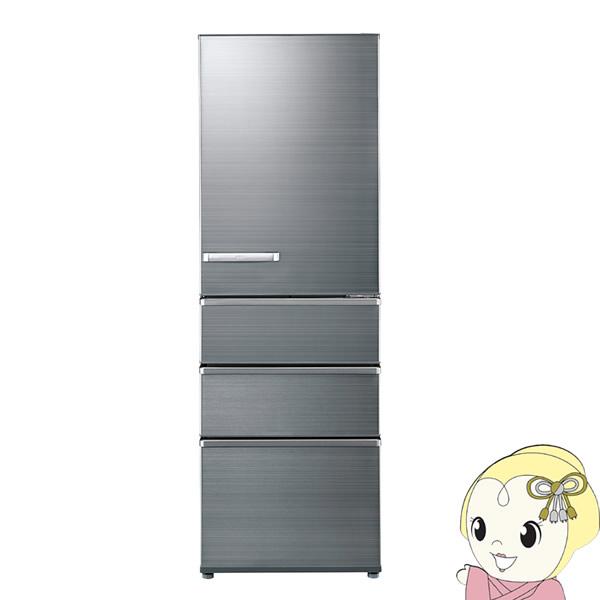 [予約]【設置込・右開き】 AQR-SV38J-S アクア 4ドア 冷凍冷蔵庫 375L チタニウムシルバー【KK9N0D18P】
