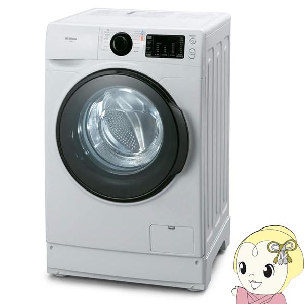 【キャッシュレス5%還元店】【設置込/左開き】 アイリスオーヤマ ドラム式洗濯機8.0kg 温水コース搭載 FL81R-W【KK9N0D18P】