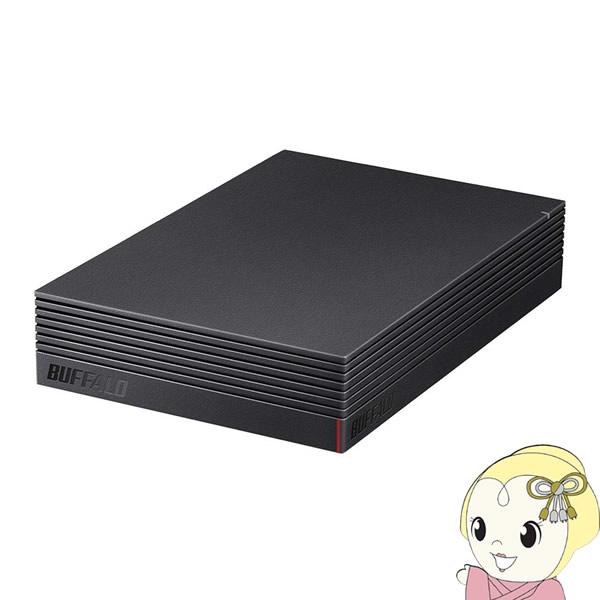 【キャッシュレス5%還元】バッファロー USB 3.2(Gen 1)対応 外付けHDD 6TB HD-LE6U3-BA【KK9N0D18P】