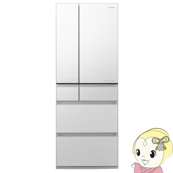 [予約 約2~3週間以降]【設置込】パナソニック 6ドア パーシャル搭載 冷蔵庫 600L 幅68.5cm NR-F606WPX-W【KK9N0D18P】