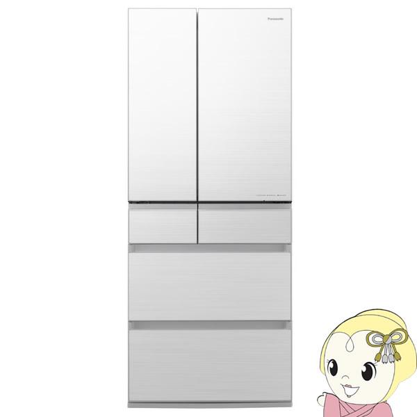 [予約 約2~3週間以降]【設置込】パナソニック 6ドア パーシャル搭載 冷蔵庫 650L 幅75cm NR-F656WPX-W【KK9N0D18P】