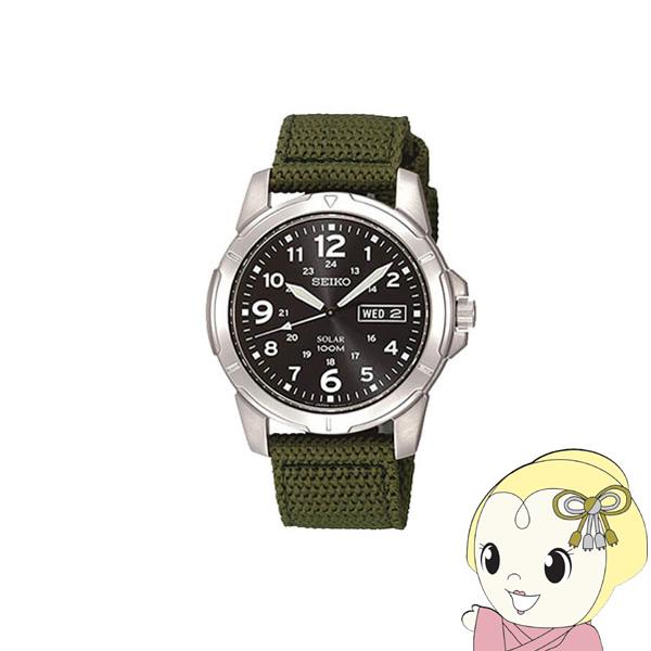 【キャッシュレス5%還元】【逆輸入品】セイコー SEIKO 腕時計 スポーツカーキグリーン ソーラー メンズ 逆輸入品 SNE095P2【KK9N0D18P】