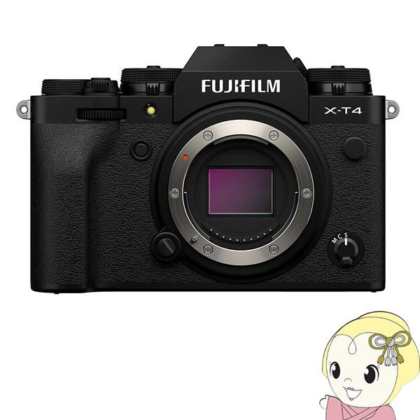 富士フィルム ミラーレス 一眼カメラ FUJIFILM X-T4 ボディ [ブラック]【KK9N0D18P】
