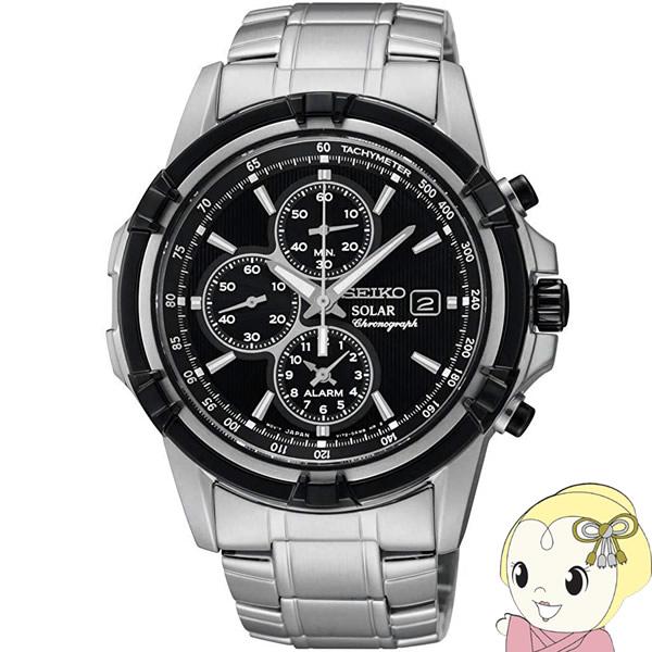 【キャッシュレス5%還元】【逆輸入品】 SEIKO ソーラー 腕時計 クロノグラフ メンズ SSC147P1【KK9N0D18P】