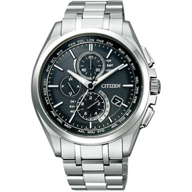 シチズン 腕時計 アテッサ エコ・ドライブ 電波時計 ブラック AT8040-57E【smtb-k】【ky】【KK9N0D18P】