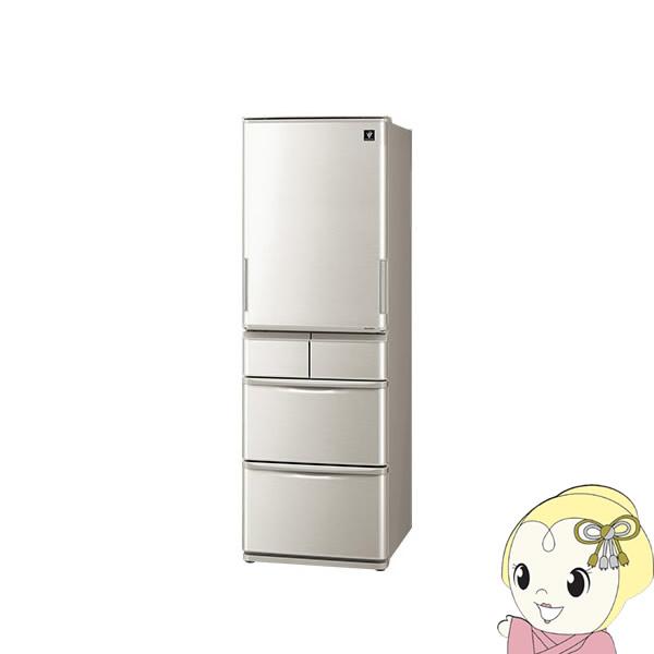 【設置込】SJ-W412D-S シャープ 5ドア冷蔵庫412L どっちもドア シルバー系【smtb-k】【ky】【KK9N0D18P】