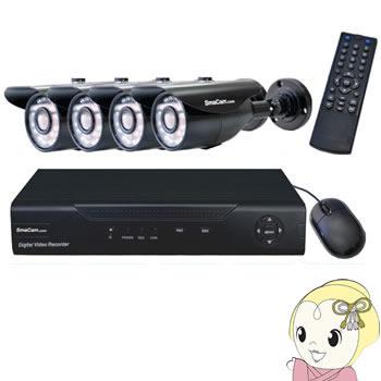 [屋外設置可] SMACOMBOv5 テック AHD 3.6mm 防水・夜間対応カメラ 4台と録画機のセット (HDDなし)【smtb-k】【ky】【KK9N0D18P】