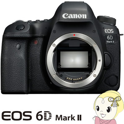 キャノン デジタル一眼レフカメラ EOS 6D Mark II ボディ【KK9N0D18P】