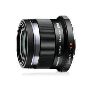 オリンパス 単焦点中望遠レンズ マイクロフォーサーズマウント系 M.ZUIKO DIGITAL 45mm F1.8 [ブラック]【KK9N0D18P】