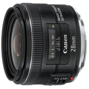 【キャッシュレス5%還元】キャノン 広角単焦点レンズ キヤノンEFマウント系 EF28mm F2.8 IS USM【KK9N0D18P】