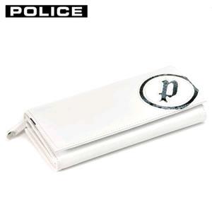 ベストセラー PA5503-40 ホワイト POLICE POLICE 小銭入れ付き 二つ折り長財布【KK9N0D18P】, オリンピア 25749990