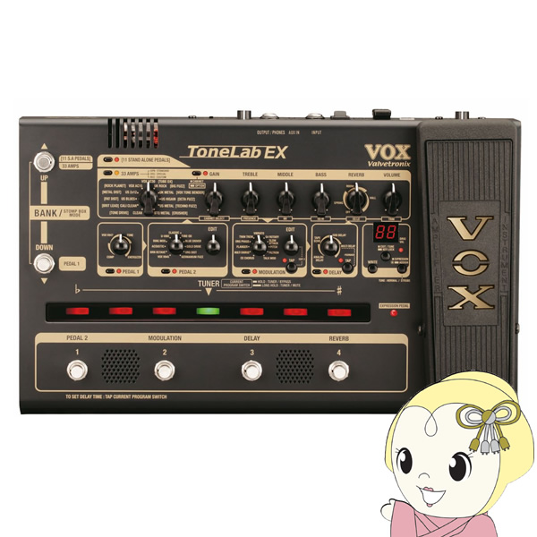 TONELABEX VOX 真空管搭載 マルチ・エフェクター Tone Lab EX【smtb-k】【ky】【KK9N0D18P】