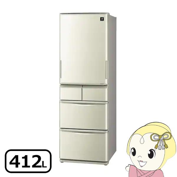 [予約]【設置込】SJ-W411E-N シャープ どっちもドア冷蔵庫412L シャンパンゴールド【smtb-k】【ky】【KK9N0D18P】