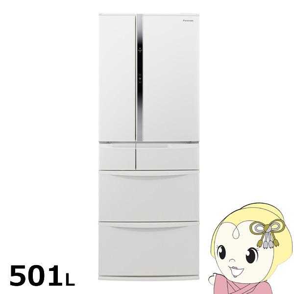 [予約]【設置込】NR-FVF504-W パナソニック 6ドア冷蔵庫501L たっぷり冷凍 ハーモニーホワイト【smtb-k】【ky】【KK9N0D18P】