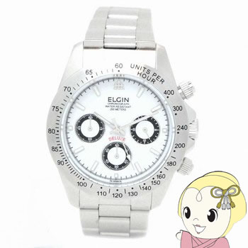 【キャッシュレス5%還元】エルジン クロノグラフ 腕時計 FK1059S-W【KK9N0D18P】
