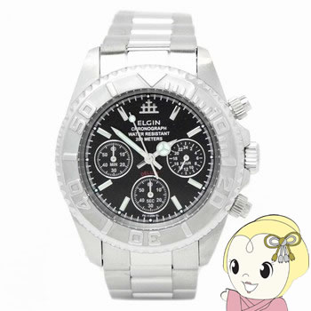 【キャッシュレス5%還元】エルジン クロノグラフ 腕時計 FK1120S-B【KK9N0D18P】