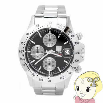 【キャッシュレス5%還元】エルジン クロノグラフ 腕時計 FK1184S-B【KK9N0D18P】
