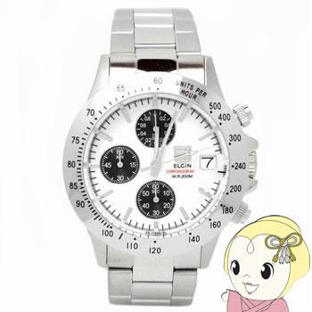 【キャッシュレス5%還元】エルジン クロノグラフ 腕時計 FK1184S-W【KK9N0D18P】