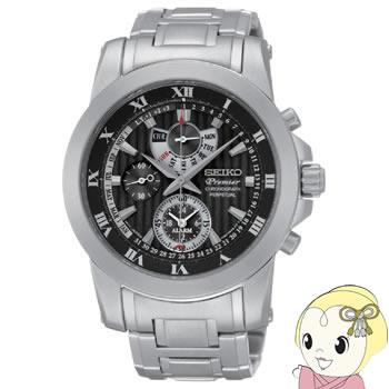 【キャッシュレス5%還元】【あす楽】在庫僅少 [逆輸入品] SEIKO クォーツ 腕時計 PREMIER プルミエ アラーム クロノグラフ パーペチュアル SPC161P1【KK9N0D18P】
