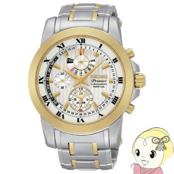 【キャッシュレス5%還元】[逆輸入品] SEIKO クォーツ 腕時計 PREMIER プルミエ アラーム クロノグラフ パーペチュアル SPC162P1【KK9N0D18P】