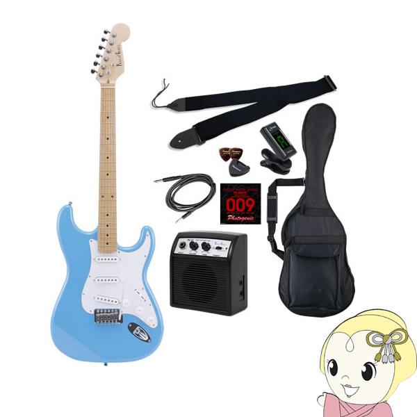 【メーカー直送】 エレキギター 初心者セット フォトジェニック ST-180 入門セット ライトブルー (メイプル指板)【smtb-k】【ky】【KK9N0D18P】