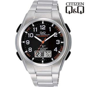 【キャッシュレス5%還元】シチズン 腕時計 Q&Q 世界5局対応 コンビネーション電波時計 ソーラー電源 MD02-205【KK9N0D18P】