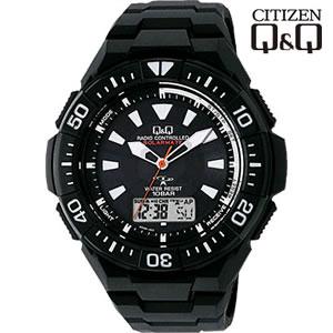 シチズン 腕時計 Q&Q 世界5局対応 コンビネーション電波時計 ソーラー電源 MD06-302【smtb-k】【ky】【KK9N0D18P】