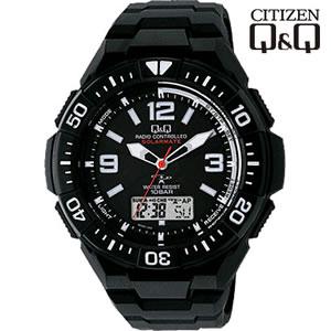 【キャッシュレス5%還元】シチズン 腕時計 Q&Q 世界5局対応 コンビネーション電波時計 ソーラー電源 MD06-305【KK9N0D18P】