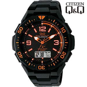 【キャッシュレス5%還元】シチズン 腕時計 Q&Q 世界5局対応 コンビネーション電波時計 ソーラー電源 MD06-315【KK9N0D18P】