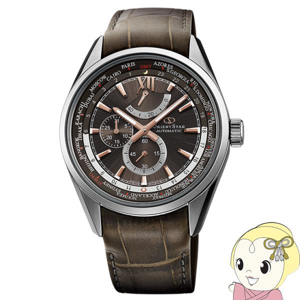 【キャッシュレス5%還元】【あす楽】【在庫僅少】WZ0091JC オリエント メンズ 機械式腕時計 皮革バンド WORLD TIME オリエントスター【KK9N0D18P】
