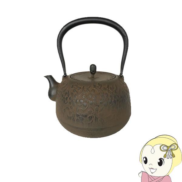 【メーカー直送】南部鉄瓶 1.8L 春桜 (通常蓋仕様)【KK9N0D18P】